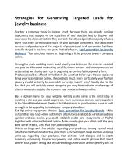 Lead generation for Jewelry Companies.pdf