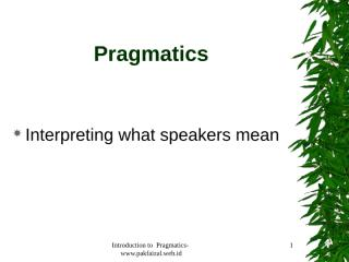 pragmatics.ppt