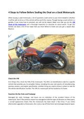 4 Steps to Follow Before Sealing the Deal on a Used Motorcycle.PDF